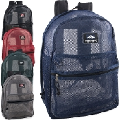 Mesh Backpacks 17 Inch- 5 Variety Colored
