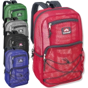 Mesh Backpacks 18 Inch Deluxe - 5 Variety Colored