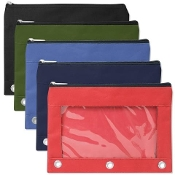 3 Ring Binder Pencil Case With Window