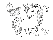 Unicorn Coloring Sheets for Kid Partys, Ages 4 and up