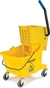 Commercial Mop Bucket with Side Press Wringer, 26 Quart Capacity