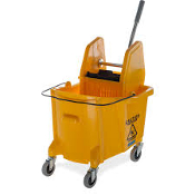 Commercial Mop Bucket with Down Press Wringer, 35 Quart Capacity