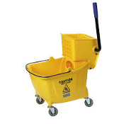 Commercial Mop Bucket with Side Press Wringer, 35 Quart Capacity